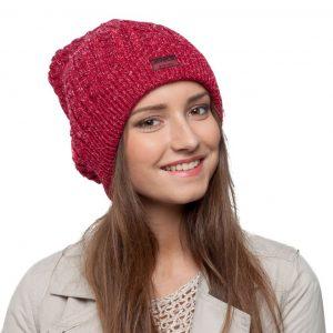 bonnet bordeaux paillettes femme