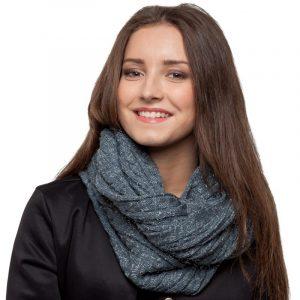 écharpe gris paillettes femme