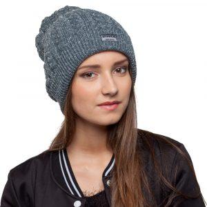 bonnet gris paillettes femme