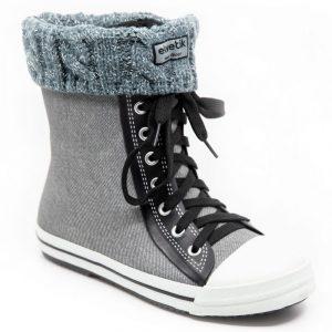 chaussettes gris paillettes