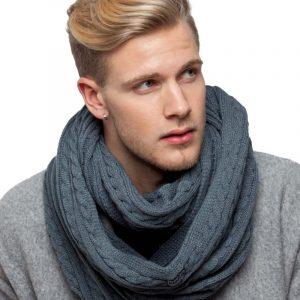 écharpe gris homme