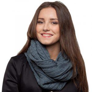 écharpe gris femme
