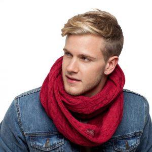 écharpe bordeaux homme