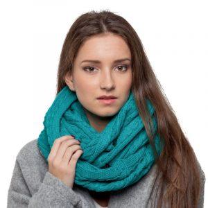 écharpe turquoise femme