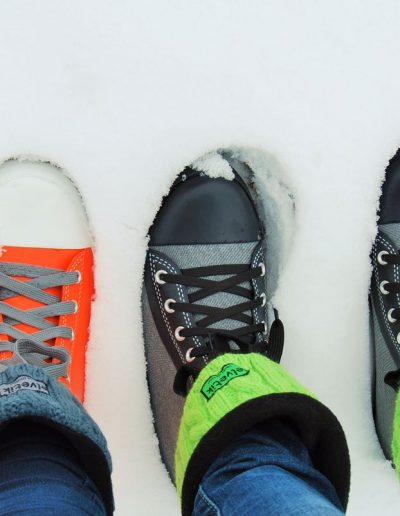 elvetik bottes en caoutchouc dans la neige