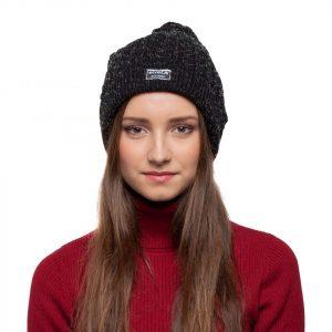bonnet noir paillettes femme