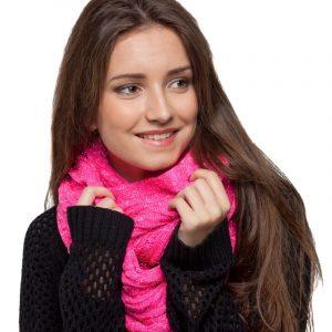 écharpe rose paillettes femme