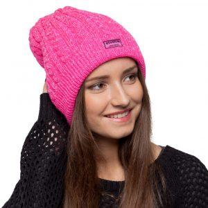 bonnet rose paillettes femme