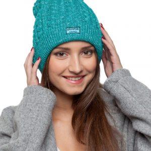 bonnet turquoise paillettes femme