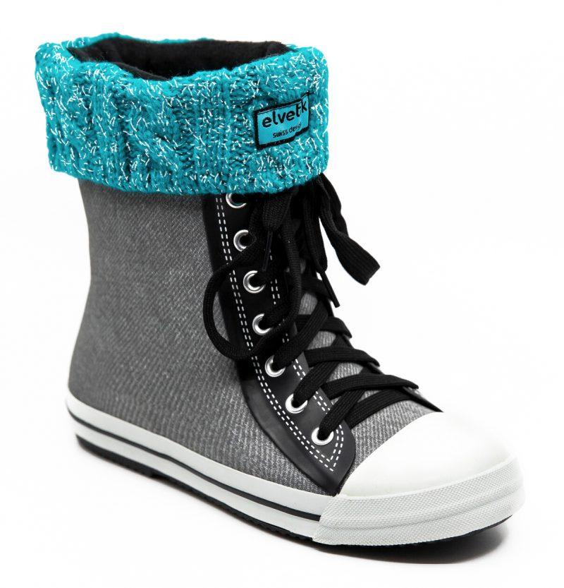 chaussettes turquoise paillettes