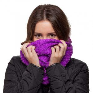 écharpe violet paillettes femme