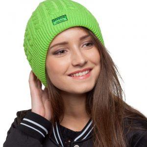 bonnet vert femme
