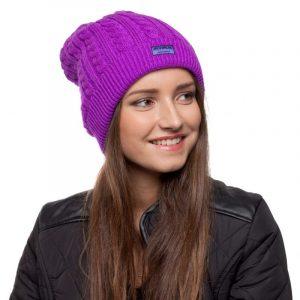 bonnet violet femme