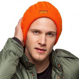 bonnet orange homme