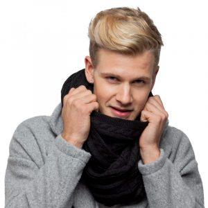 écharpe noir homme