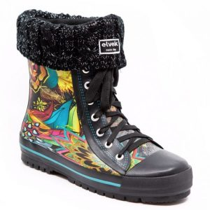 chaussettes noir paillettes 1