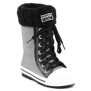 botte de pluie enfant elvetik avec chaussettes polaire noire