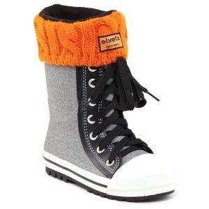 elvetik botte de pluie pour enfant avec chaussettes polaire orange